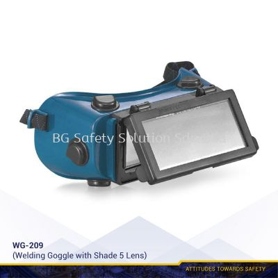 WG-209 Single Lift Front Welding Goggle with Shade Lens