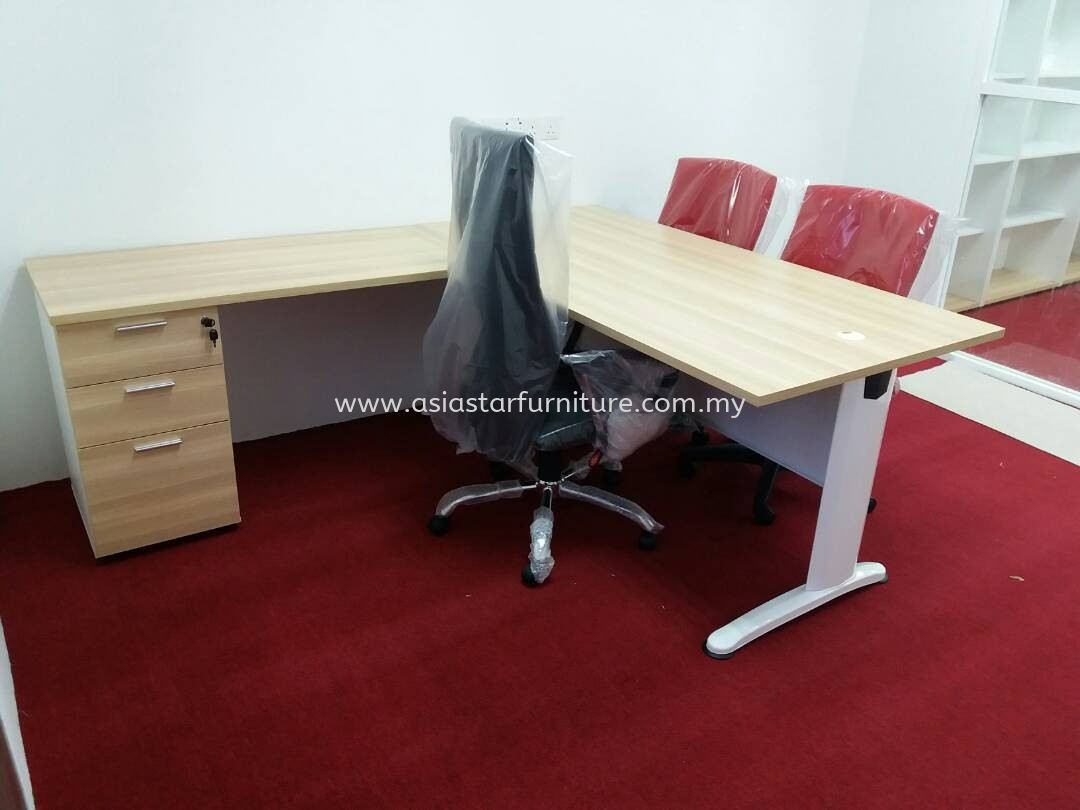 DELIVERY & INSTALLATION WRITING TABLE BT 158 SET & COLOGNE HIGH CHAIR OFFICE FURNITURE BATU TIGA INDUSTRIAL PARK, SHAH ALAM