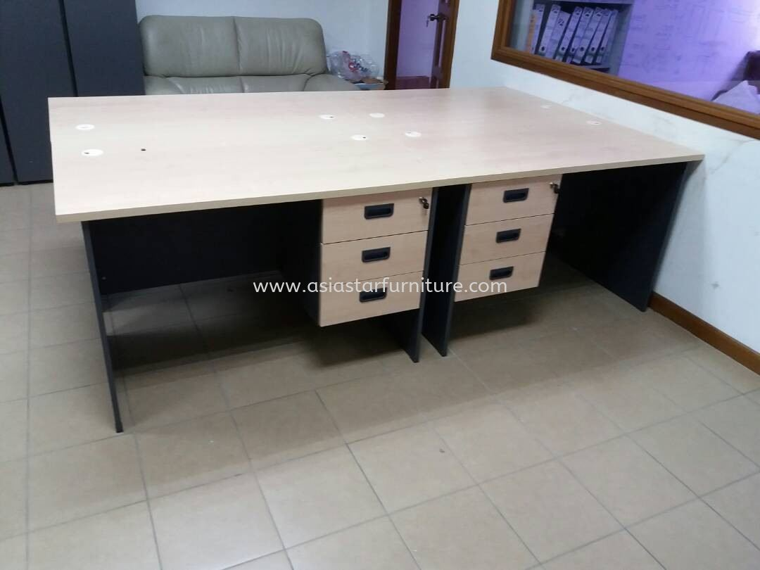 DELIVERY & INSTALLATION WRITING TABLE WOODEN BASE GT 127 & FIXED PEDESTAL 3D GH 3 OFFICE FURNITURE TAMAN PARAMOUNT, PETALING JAYA