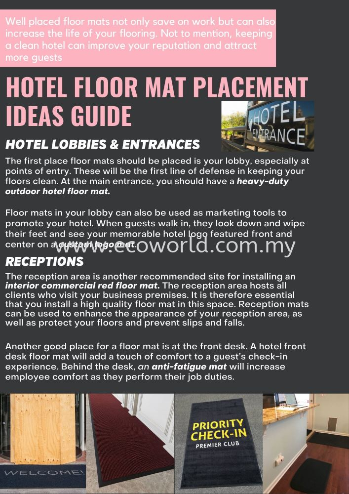 Hotel Floor Mat Placement Ideas Guide