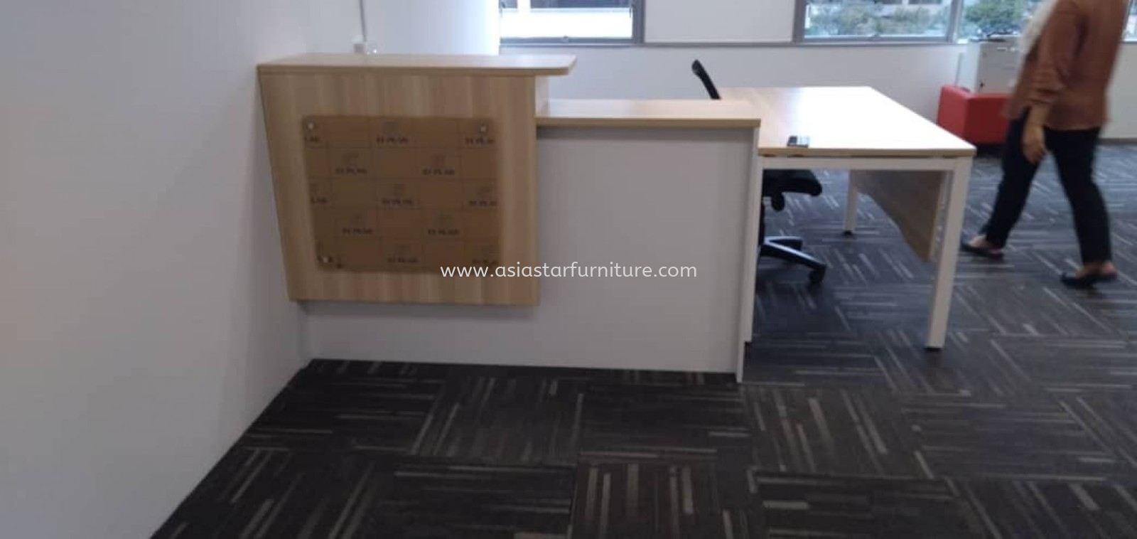 DELIVERY & INSTALLATION OFFICE RECEPTION COUNTER TABLE B-SET 1800 OFFICE FURNITURE ZON PERINDSTRIAN PJCT, PETALING JAYA