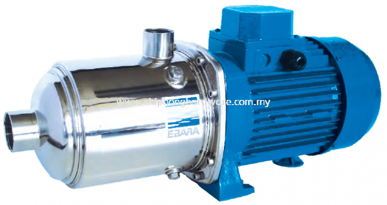 Horizontal Multi-stage Electric Pumps in AISI 304 - Type Matrix