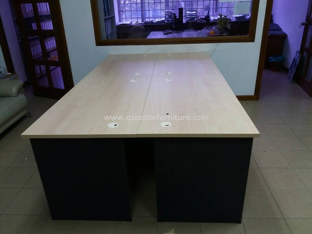 DELIVERY & INSTALLATION OFFICE WRITING TABLE WOODEN BASE GT 127 OFFICE FURNITURE TAMAN WAWASAN, PUCHONG