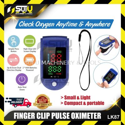 LK87 Portable Finger Clip Pulse Oximeter with LED display screen