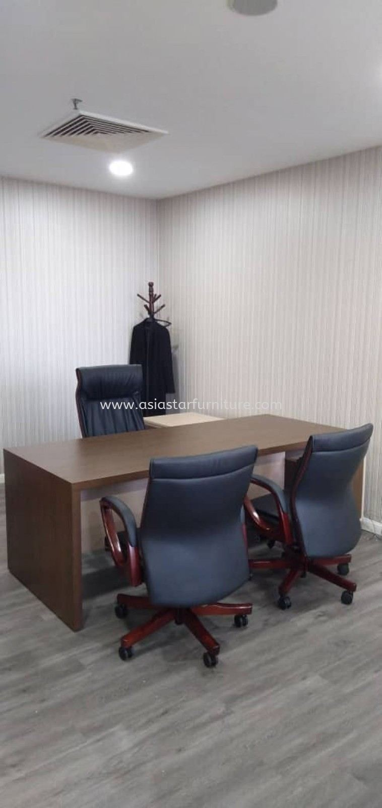 DELIVERY & INSTALLATION QAMAR DIRECTOR OFFICE TABLE AQX 1800 WITH SIDE CABINET AQ-YLP 6122 OFFICE FURNITURE BATU CAVES, KUALA LUMPUR