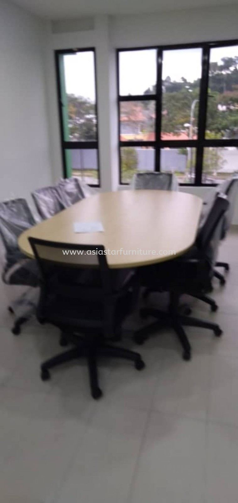 DELIVERY & INSTALLATION TOE 18 MEETING OFFICE TABLE & BATLEY LOW CHAIR OFFICE FURNITURE KEPONG