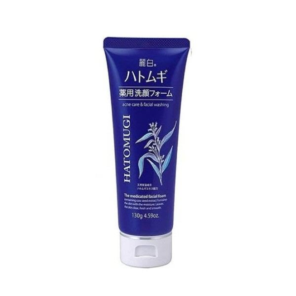 Reihaku Hatomugi Medicated Facial Foam 130g