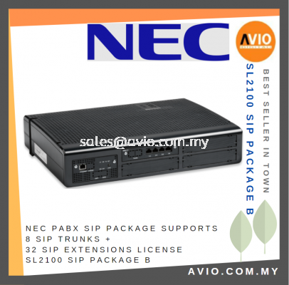 NEC PABX SL2100 SIP Package Supports 4 SIP Trunks + 8 SIP Extension License SL2100 SIP Package A