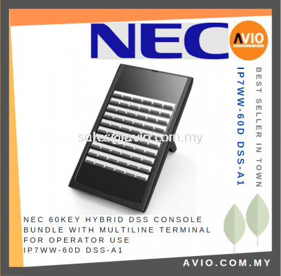 NEC 60 Key Hybrid DSS Console Bundle with Multiline Terminal Phone for Operator use IP7WW-60D DSS-A1