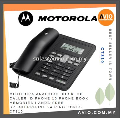Motorola Analogue Desktop Caller ID Phone 10 Phone Book Memories  Hand Free Speakerphone 24 Ringtone CT310
