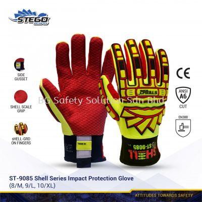 STEGO ST-9085 SHELL SERIES IMPACT & CUT PROTECTION GLOVE