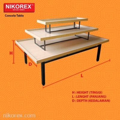 125102BK - Console Table 3 Layers