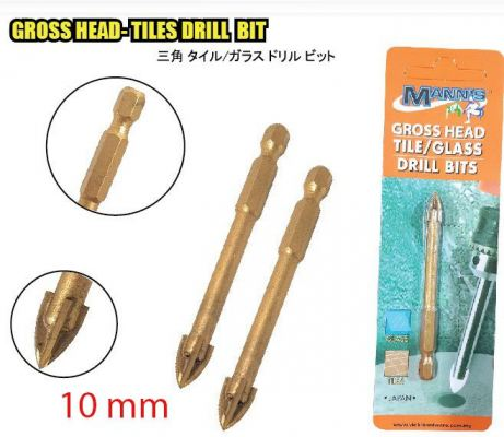 MN 10MM  GROSS HEAD TILES DRILL BIT - 00718M