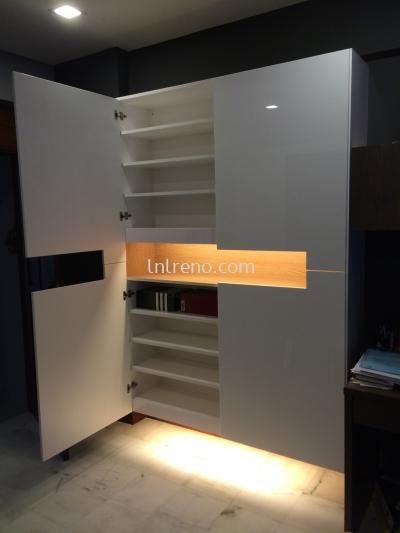 Custom made Shoe cabinet with high gloss acrylic door panel