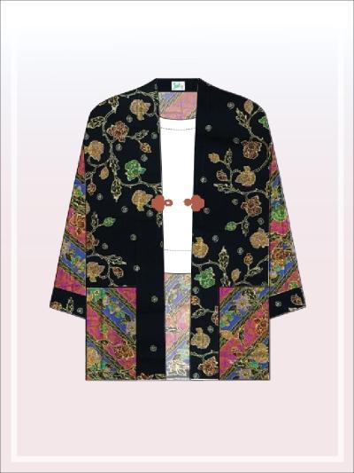 K004 Batik Kimono Jacket (Long)