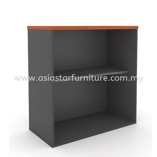 TITUS OPEN SHELF LOW OFFICE CABINET AGO 880 (CHERRY & DARK GREY) - Office Furniture Mall Filing Cabinet   Filing Cabinet Selayang   Filing Cabinet Rawang   Filing Cabinet Kepong