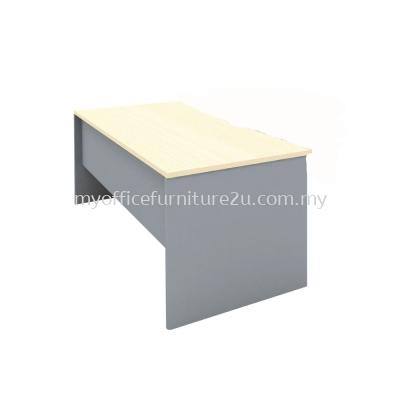 FO188 Writing Table 1800W x 800D x 750H mm (Dark Grey+Maple)