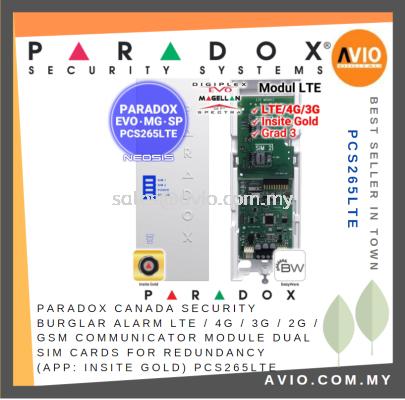 Paradox Canada Security Burglar Alarm LTE 4G 3G 2G GSM Communicator Module Dual Sim ( APP Insite Gold ) PCS265LTE