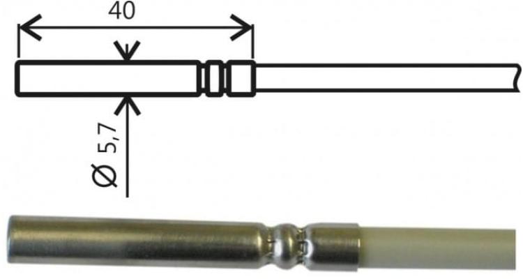 COMET SN185E Temperature probe Pt1000TGL40/E, ELKA connector, cable 1 meter