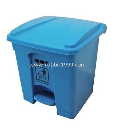 RABBIT STEP ON BIN - 30lt - blue