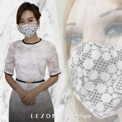 3263 LEZONE Protective 3-Layer Washable Fashion Mask��Limited Collection��