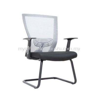 V2977S Will Mesh Visitor Chair Pu Leather
