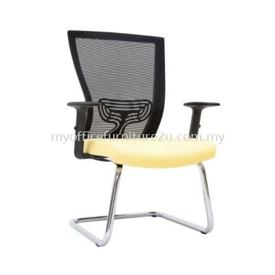 V2973S Will Mesh Visitor Chair Pu Leather