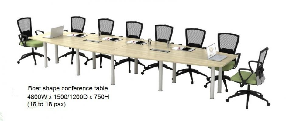 Boat shape conference table AIM4815B