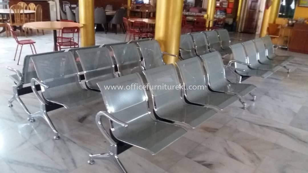FREE DELIVERY & INSTALLATION 4 SEATER OFFICE VISITOR LINK CHAIR l STEEL CHAIR OFFICE FURNITURE l SUBANG BUSINESS CENTRE l SUBANG JAYA l TOP 10 BEST RECOMMEND