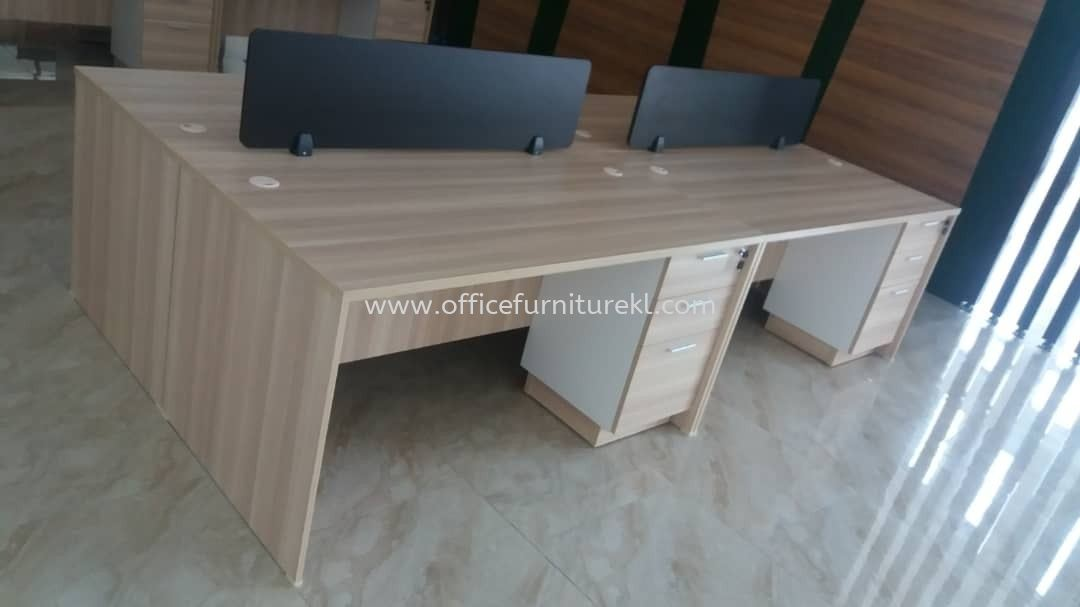 FREE DELIVERY & INSTALLATION WRITING OFFICE TABLE EXT 157 l FIXED OFFICE PEDESTAL 2D1F B-YHP 3 l DESKING OFFICE PANEL l WORKSTATION OFFICE FURNITURE l IOI BUSINESS PARK l PUCHONG l TOP 10 BEST RECOMMEND