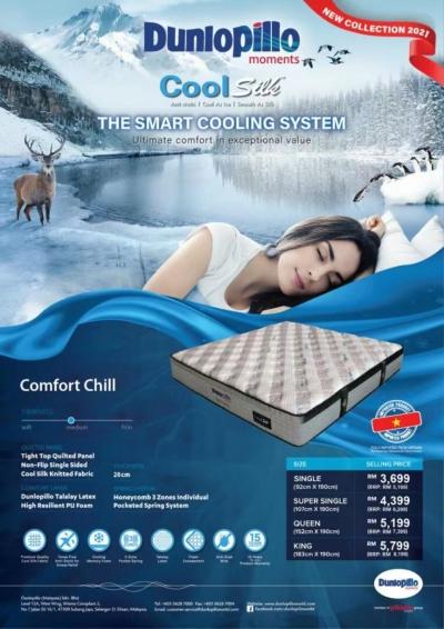 Dunlopillo Mattress Penang Coolsilk cold + Comfort Chill