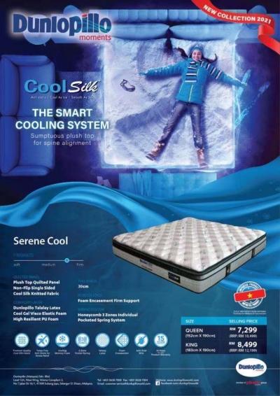 Dunlopillo Mattress Penang Coolsilk cold + Serene Cool Penang