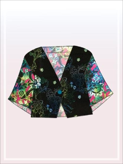 K017 Batik Crop Top