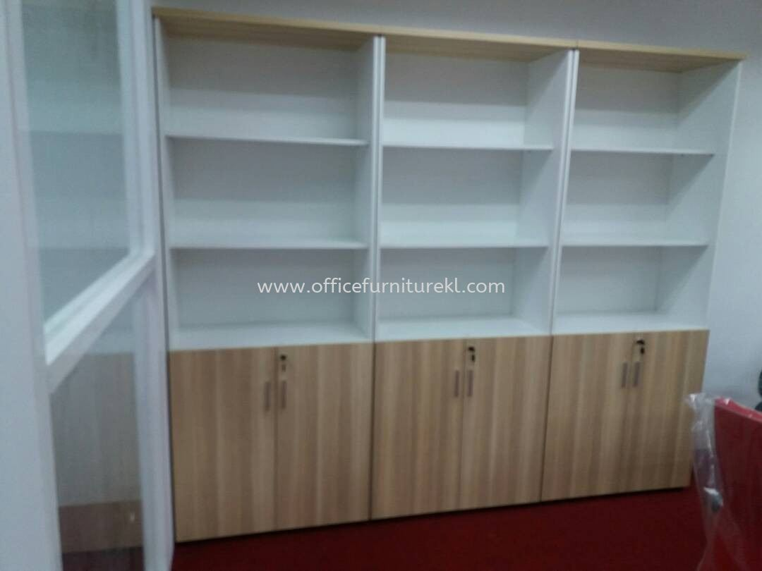 FREE DELIVERY & INSTALLATION HIGH OFFICE CABINET B-YOD 21 l WOODEN CABINET OFFICE FURNITURE l TAMAN PUCHONG PRIMA l PUCHONG l TOP 10 OFFER ITEM