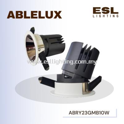 ABLELUX 10W RECESSED ADJUSTABLE SPOT DOWNLIGHT RY23 GUN METAL BLACK ISOLATED DRIVER POWER FACTOR 0.5 950LUMEN AC100-240V