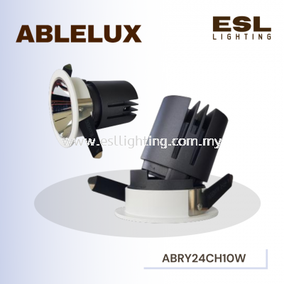 ABLELUX 10W RECESSED ADJUSTABLE SPOT DOWNLIGHT RY24 CHROME 3000K POWER FACTOR 0.5 AC100-240V ISOLATED DRIVER 950LUMEN