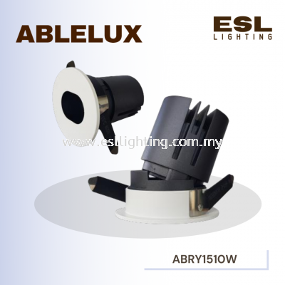 ABLELUX 10W RECESSED ADJUSTABLE SPOT DOWNLIGHT OVAL CURVE RY15 3000K POWER FACTOR 0.5 AC 100 - 240 V ISOLATED DRIVER 950 LUMEN