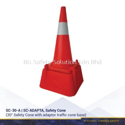 """30"""" Safety Cone with Adaptor"""