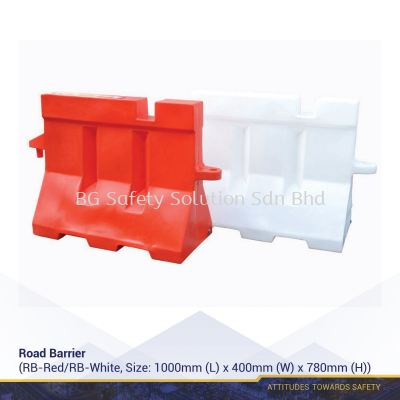 ROAD BARRIER (WHITE/RED)