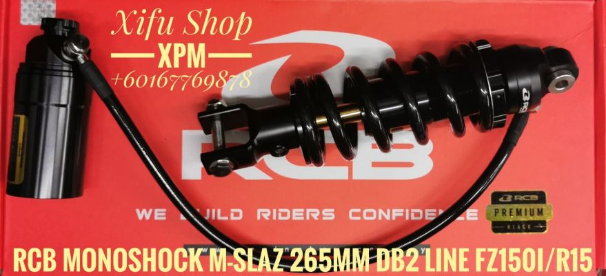 RCB MONOSHOCK FZ150I /R15/M-SLAZ 265MM DB-2 LINE (G-BK) 01M0183Z MKIMIEE