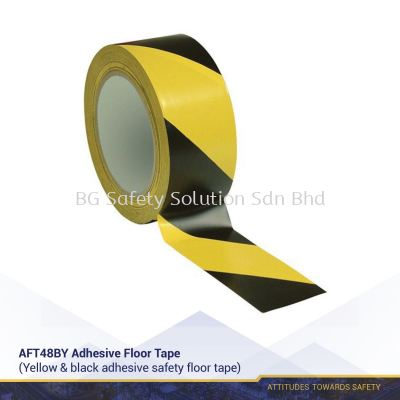 Adhesive Safety Floor Tape Yellow/Black or Red/White