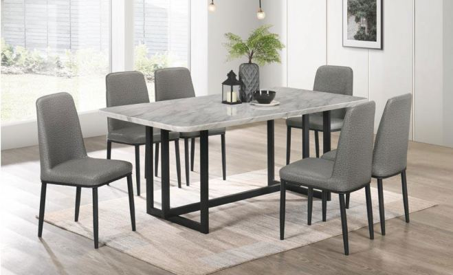 Marble Table Dinning Set Table with Chairs