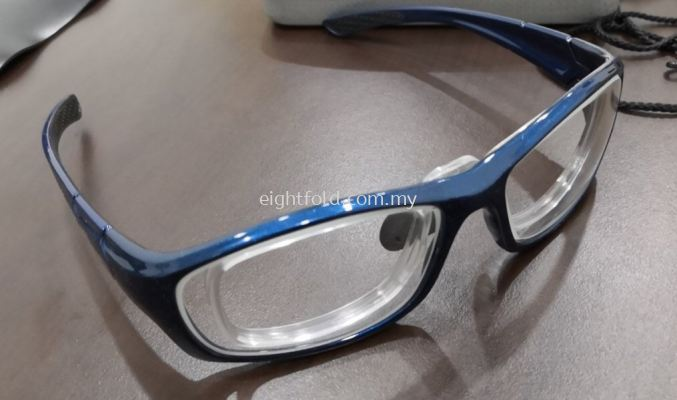 Fitover XL Radiation Protection 0.75mmPb Lead Glasses Oxford Blue with Prescription lens
