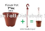 Pasu Pokok Bunga Flower Pot (By Set) PLS107/6, PLS106/4, PLS105/2 Flower Pot & Tray Gardening