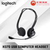 Logitech H370 USB Computer Headset with Digital Audio, Noise Cancelling Mic, Office Use Headset Logitech Peripherals