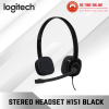 Logitech Stereo Headset H151 - Black (981-000587) Multi-device headset with in-line controls Headset Logitech Peripherals
