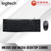 Logitech USB Media Combo Deskstop MK200 - (920-002693) | MK200 Media Corded Keyboard & Mouse Combo Bundle Sales Logitech Peripherals