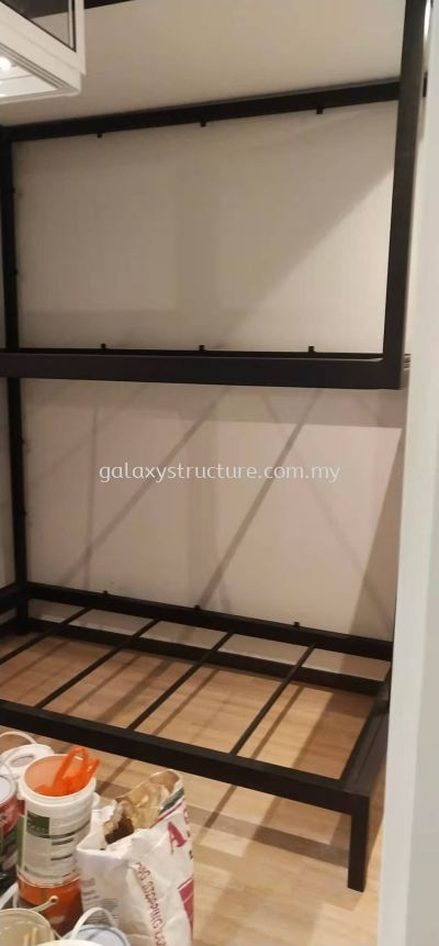 To customised fabrication,supply and install bedstead mild steel powder coated @ Jalan Kristal L7/L, Seksyen 7, 40000 Shah Alam.