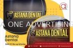 'Astana Dental' Eg Box Up Lettering  EG Box Up