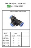 Pneumatic Fitting Push In - Different Union Tee Pneumatic Fitting - Push In Fitting